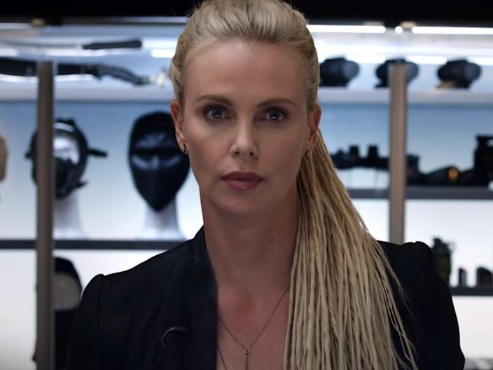 """Charlize Theron as Cipher in """"The Fate of the Furious."""""""