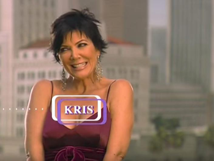 Kris Jenner's doorbell inspired the theme music.