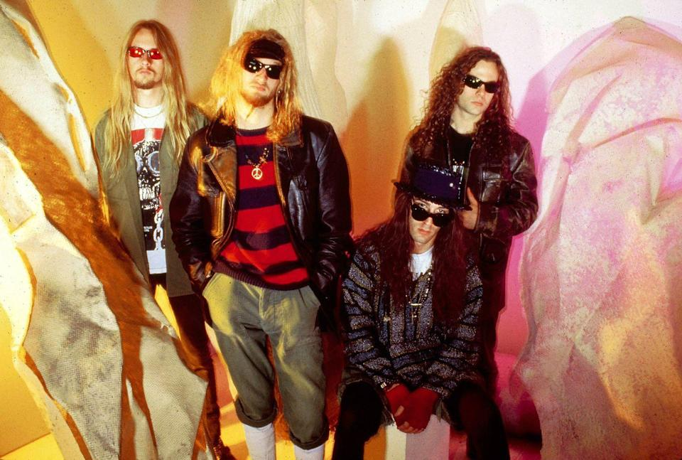<p>Alice In Chains photographed in New York in 1990.</p>