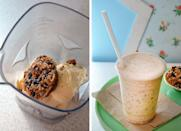 """<div class=""""caption-credit""""> Photo by: KELLY SENYEI</div><b>Cowboy Pie Milkshake</b> <br> <br> Although some would argue that the only thing better than a warm slice of pie is a warm slice à la mode, New York City's Hill Country Chicken takes it one step further with the Cowboy Pie Milkshake. This two-in-one confection begins with a mini version of the restaurant's signature Cowboy Pie: a mixture of coconut flakes, butterscotch chips, dark chocolate chips, pecans, and condensed milk baked inside a crunchy graham cracker crust. The pie is then blended with vanilla ice cream and milk, resulting in a dessert so rich, thick, and creamy, it's a real spoon-bender."""