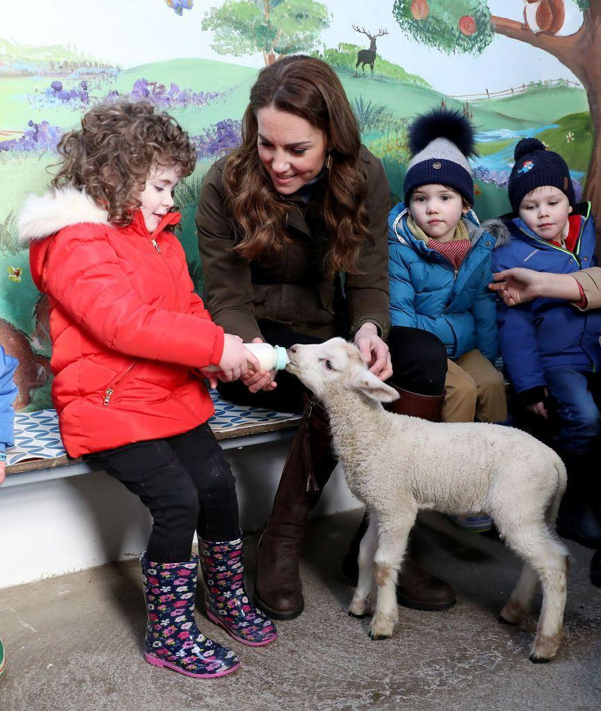 "<p>The Duchess visited Northern Ireland's Ark Open Farm, a working farm that welcomes visitors, to promote her UK-wide survey, ""5 Big Questions on the Under Fives.""</p>"