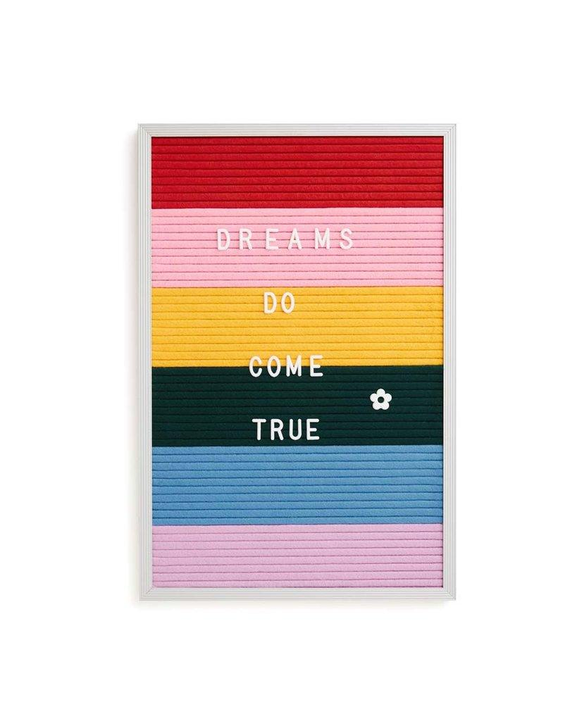 """<h3><a href=""""https://www.bando.com/products/rainbow-felt-letter-board"""" rel=""""nofollow noopener"""" target=""""_blank"""" data-ylk=""""slk:ThreePotatoFour Rainbow Felt Letter Board"""" class=""""link rapid-noclick-resp"""">ThreePotatoFour Rainbow Felt Letter Board</a> </h3><br><br>Instead of covering your walls in posters you'll likely tear down by the year's end, pick up this rainbow felt letter board that will allow you to shift your self-expressive style every semester (or day).<br><br><strong>Threepotatofour</strong> Rainbow Felt Letter Board, $, available at <a href=""""https://www.bando.com/products/rainbow-felt-letter-board"""" rel=""""nofollow noopener"""" target=""""_blank"""" data-ylk=""""slk:Bando"""" class=""""link rapid-noclick-resp"""">Bando</a>"""
