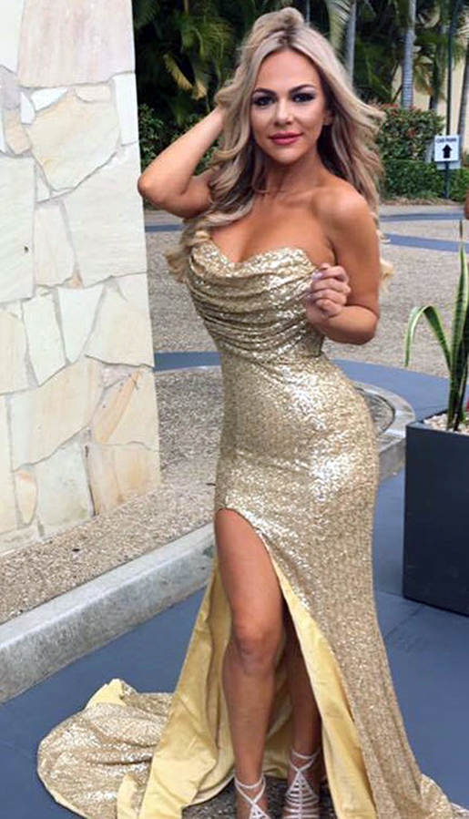 Mum-of-three Bella Vrondos said she is taunted over her fake boobs and the dresses she wears. Photo: Caters