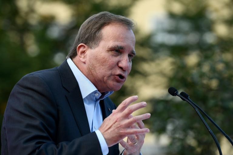 "Prime Minister Stefan Lofven has urged Swedes to vote for a ""stable government ... capable of leading Sweden in uncertain times."""
