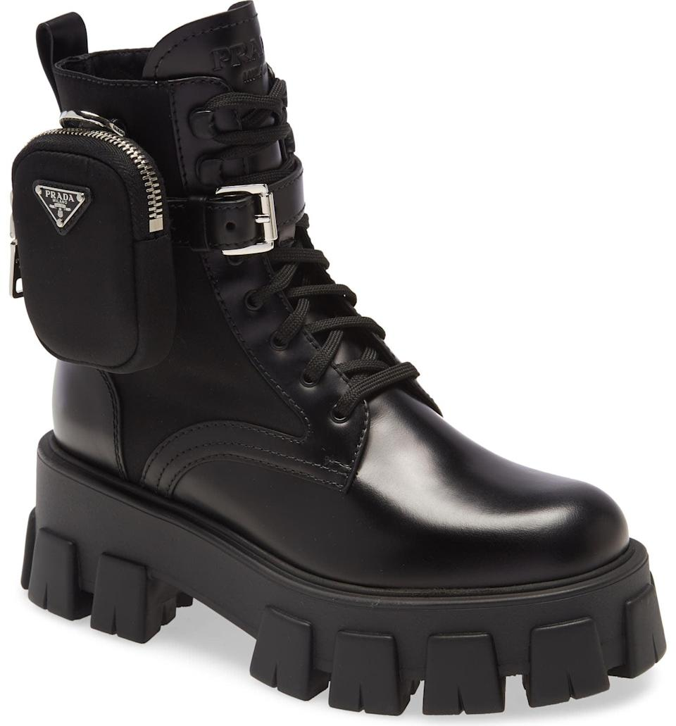 <p>Splurge on these <span>Prada Mini Bag Combat Boots</span> ($1,350), which you'll keep coming back to time and time again.</p>