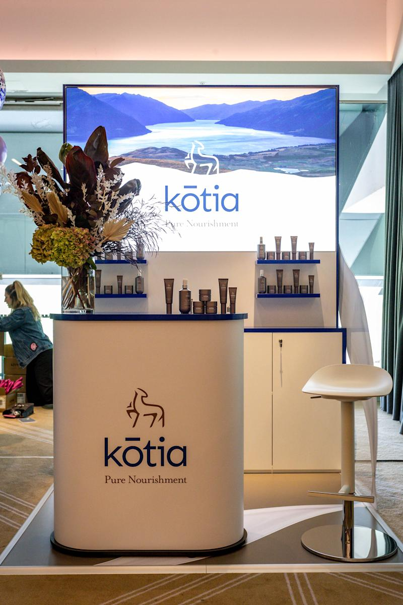 Kotia stand with products