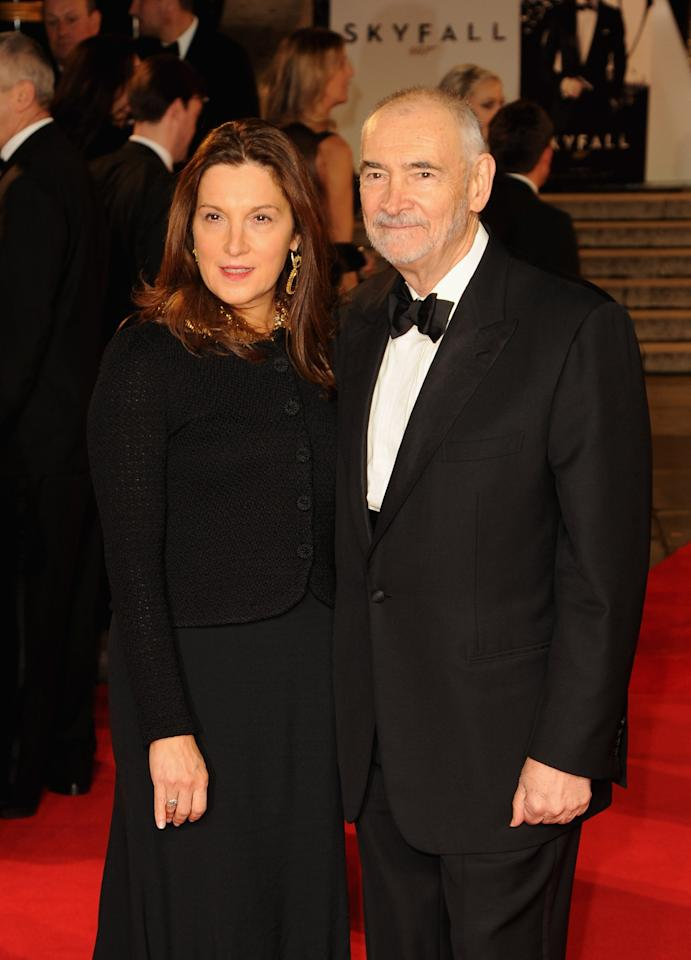 LONDON, ENGLAND - OCTOBER 23:  Producers Barbara Broccoli and Michael G. Wilson attend the Royal World Premiere of 'Skyfall' at the Royal Albert Hall on October 23, 2012 in London, England.  (Photo by Eamonn McCormack/Getty Images)