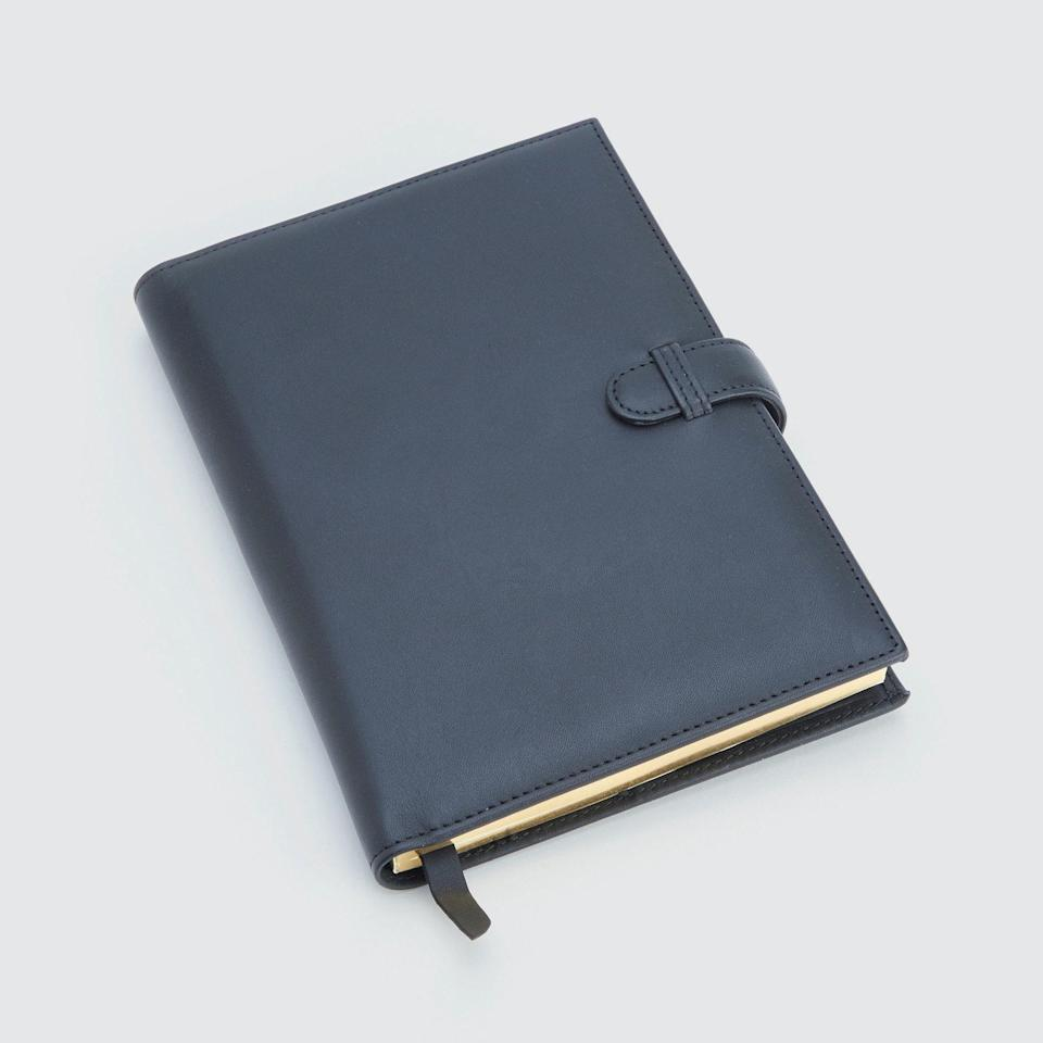 "Help him keep his genius business ideas and subpar rap lyrics in one place with this handmade soft leather journal that comes with a matching leather bookmark and a business card holder. Scribble ""I love you"" on the first page for a low-key romantic gift. $150, Verishop. <a href=""https://www.verishop.com/royce-new-york/stationary-tools-accessories/executive-journal/p4510330028055?variant_id=31691484102679"" rel=""nofollow noopener"" target=""_blank"" data-ylk=""slk:Get it now!"" class=""link rapid-noclick-resp"">Get it now!</a>"