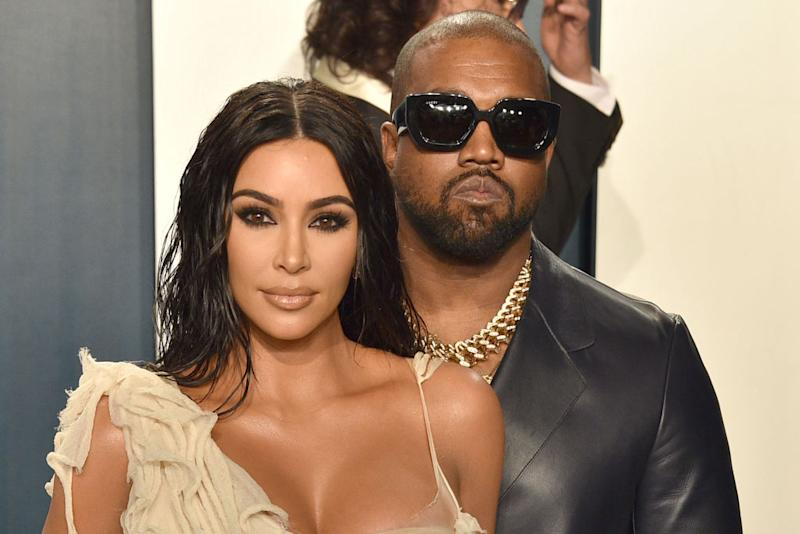 Kim Kardashian and Kanye West attend the 2020 Vanity Fair Oscar Party. Source: Getty Images