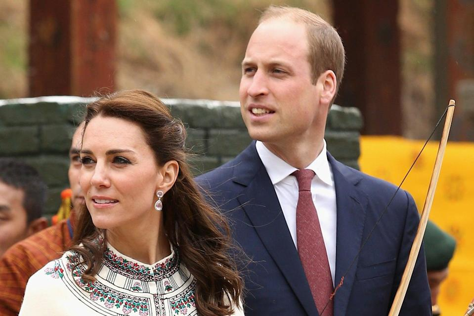 <p>Kate and William are on YouTube </p> (PA)