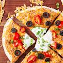 """<p>Okay, fine. We're using the term pizza VERY loosely. This <a href=""""https://www.delish.com/uk/easy-dinner-ideas/"""" rel=""""nofollow noopener"""" target=""""_blank"""" data-ylk=""""slk:easy dinner"""" class=""""link rapid-noclick-resp"""">easy dinner</a> comes together super fast, and it's got all the <a href=""""https://www.delish.com/uk/cooking/recipes/a29082616/tex-mex-meatball-sub-recipe/"""" rel=""""nofollow noopener"""" target=""""_blank"""" data-ylk=""""slk:Tex-Mex"""" class=""""link rapid-noclick-resp"""">Tex-Mex</a> flavours we know and love. Just because it's not authentic doesn't mean it's not delicious! </p><p>Get the <a href=""""https://www.delish.com/uk/cooking/recipes/a32638612/mexican-pizza-recipe/"""" rel=""""nofollow noopener"""" target=""""_blank"""" data-ylk=""""slk:Mexican Pizza"""" class=""""link rapid-noclick-resp"""">Mexican Pizza</a> recipe.</p>"""