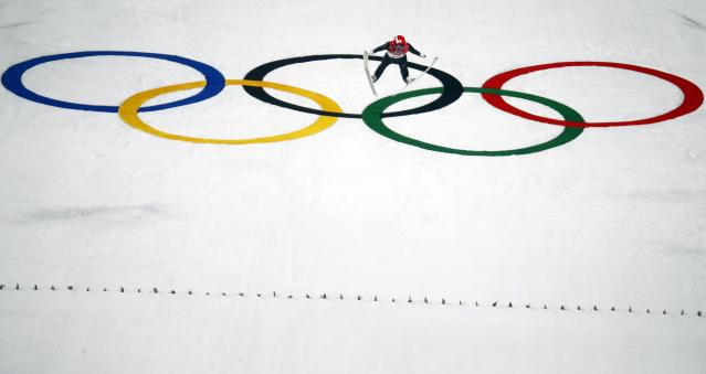 Nordic Combined Events - Pyeongchang 2018 Winter Olympics - Men's Individual Gundersen Large Hill Competition - Alpensia Ski Jumping Centre - Pyeongchang, South Korea – February 20, 2018 - Yoshito Watabe of Japan competes. REUTERS/Kai Pfaffenbach