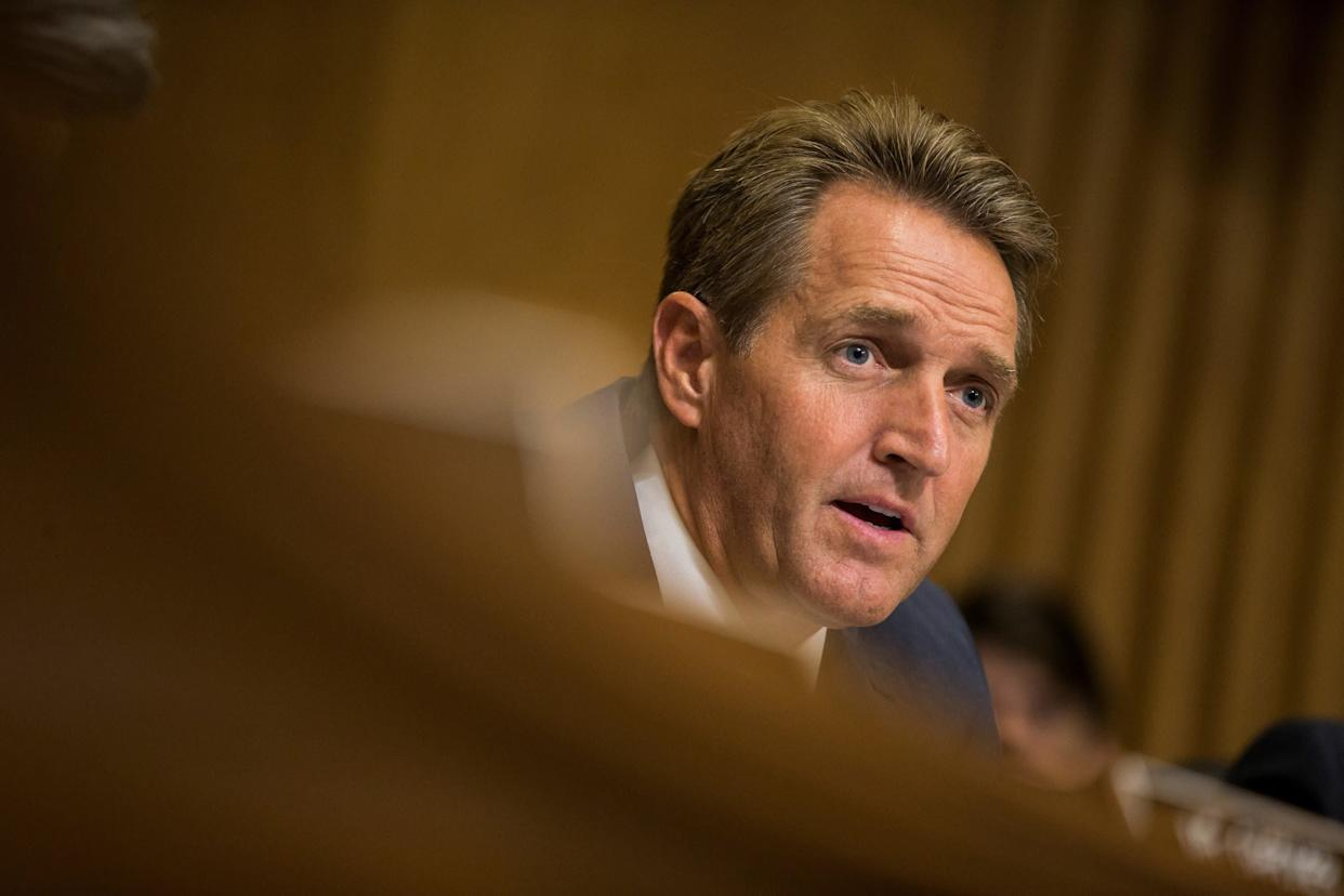&ldquo;As of now, unless he changes significantly, I can&rsquo;t see myself voting for Donald Trump,&rdquo;<span> Flake said in June</span>.