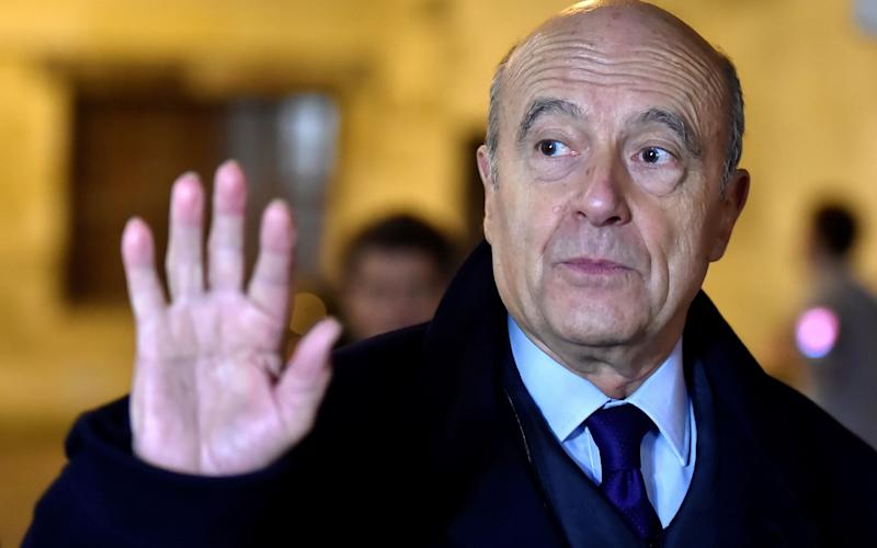 Alain Juppé, mayor of Bordeaux and ex-prime minister, has let it be known he would replace François Fillon as Right-wing presidential candidate - Credit: GEORGES GOBET/AFP