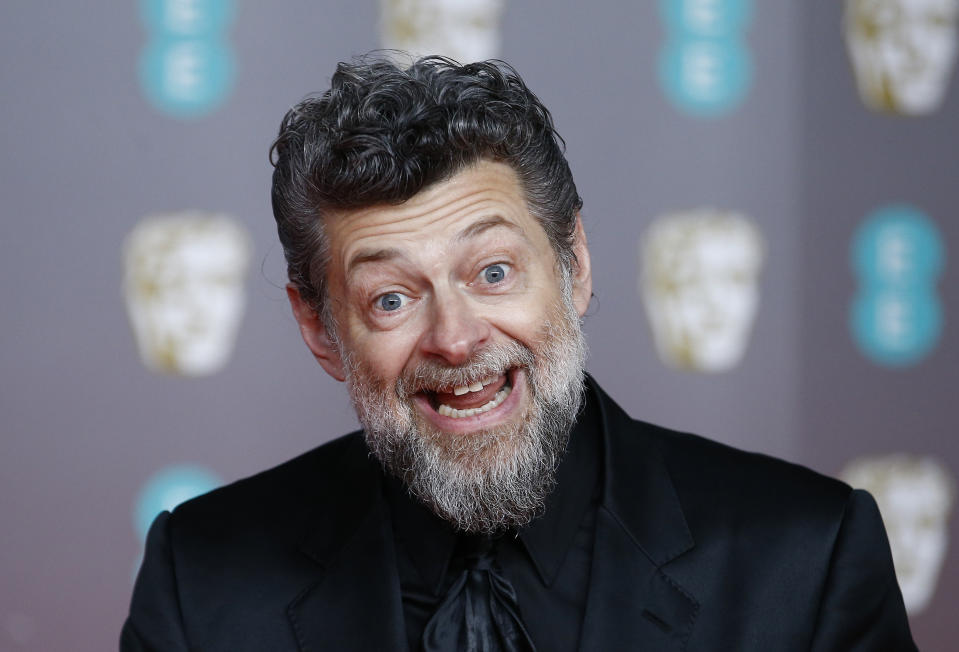 Andy Serkis arrives at the British Academy of Film and Television Awards (BAFTA) at the Royal Albert Hall in London, Britain, February 2, 2020. REUTERS/Henry Nicholls