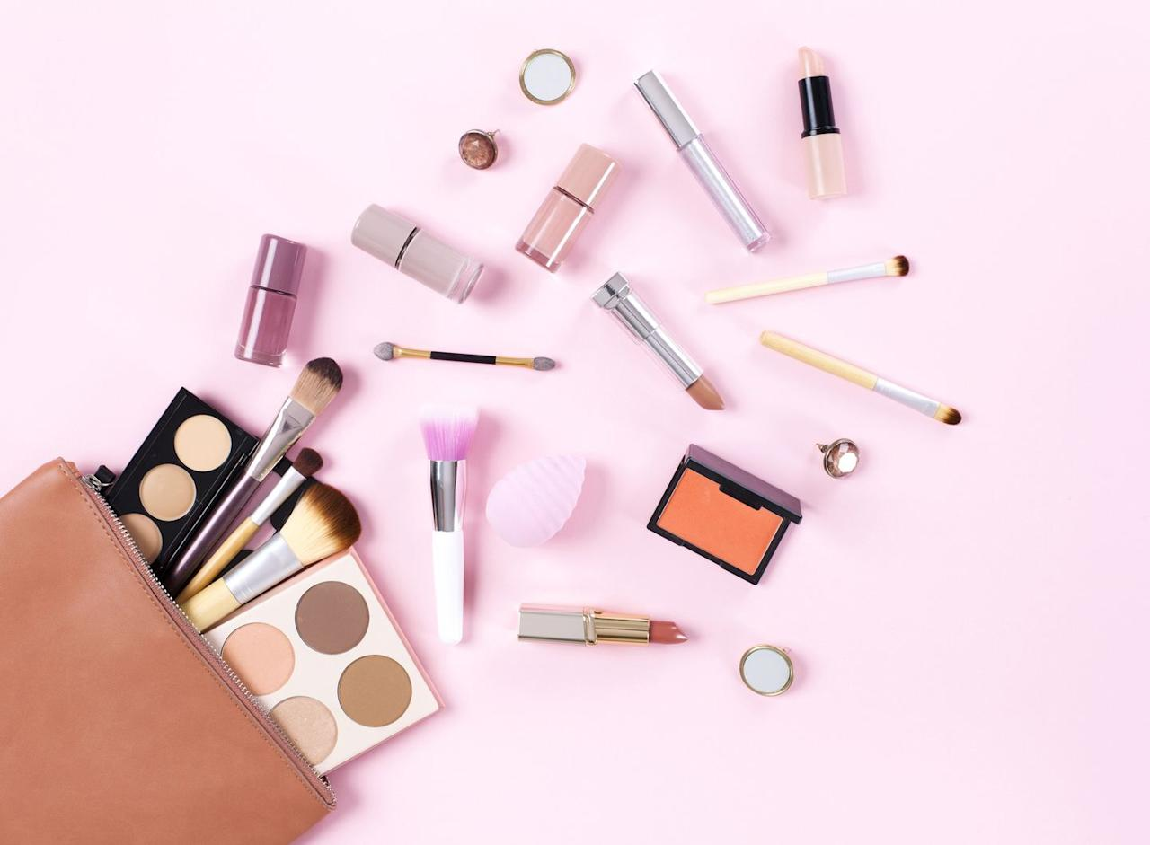 <p>Surrounded by the beauty-obsessed? Fill plastic eggs with small cosmetic items like mini nail polishes, lip balms, or travel-size beauty products in spring hues. </p>