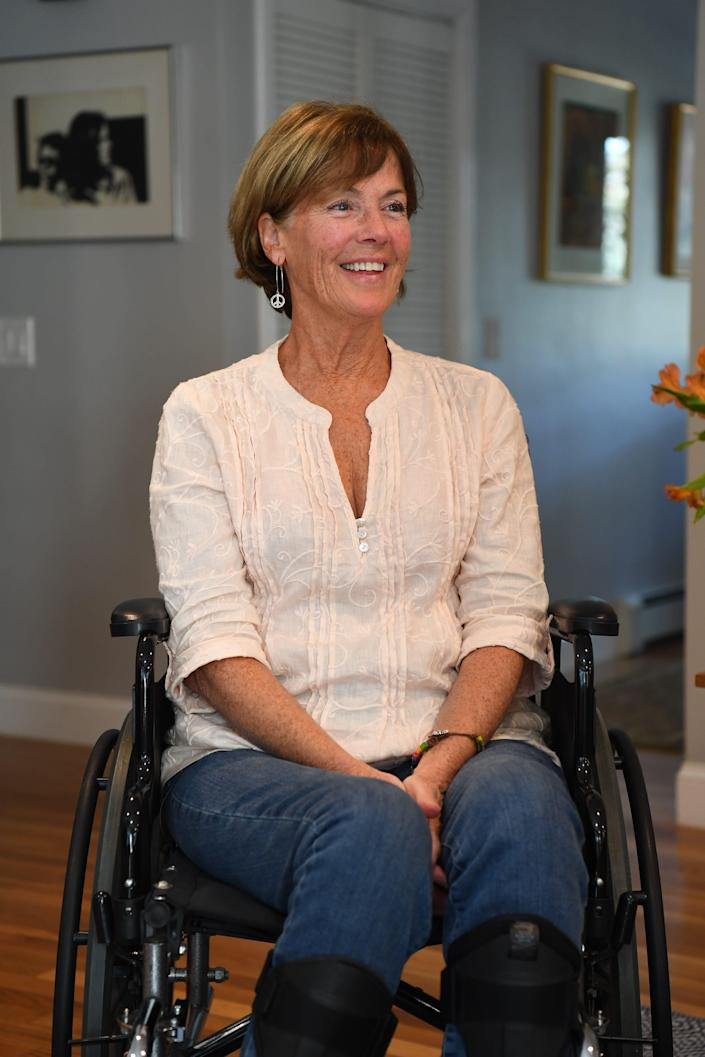 Nancy Poon, who has ALS, can no longer do the athletics she loved, but enjoys doing household chores - because she still can.