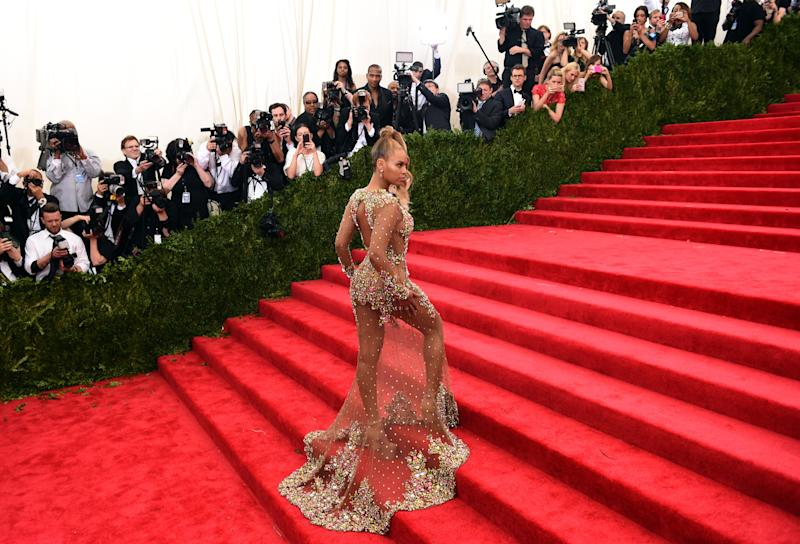Beyonce elevated the dress's status at the 2015 Met Gala. Photo: Getty Images