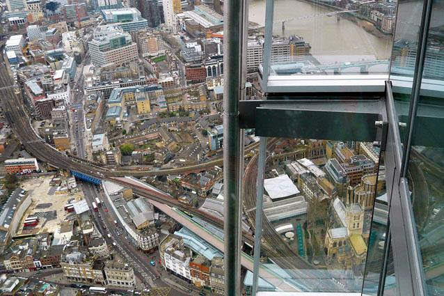 The View from The Shard. Photo: Carron Brown/Flickr - The newly opened The Shard is Western Europe's tallest building at 1,016ft and the sensory experience known as The View from The Shard is located on levels 68, 69 and 72. The 360-degree view of London from 800ft up is nothing short of magical. Familiar landmarks like Tower of London and St Paul's Cathedral seem to lie practically at your feet while the Oval Cricket Ground can be discerned at a distance.