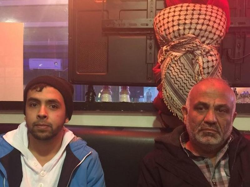 Yousef Hassan, 22, left, and his father Jehad, 52