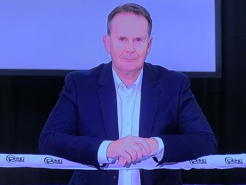 Tony Jones joined Today via video link on his final day as sports presenter. Photo: Twitter/@kevinperry.