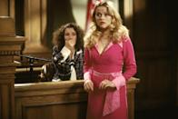 <p><strong>Her Legally Blonde angle: </strong></p><p>The daughter of the murdered millionaire (and stepdaughter of the accused, Brooke) who - thanks to Elle's understand of perm haircare - is later found to be guilty of her own father's murder.</p>