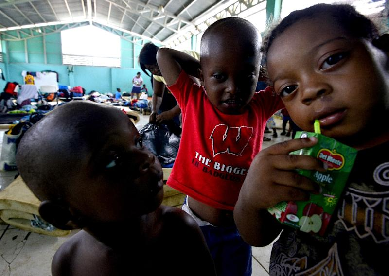 Migrant children, seen at a shelter in Penas Blancas, Costa Rica, on the border with Nicaragua