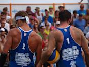 Martin Reader and Josh Binstock at the 2012 Canadian Beach Volleyball Trials