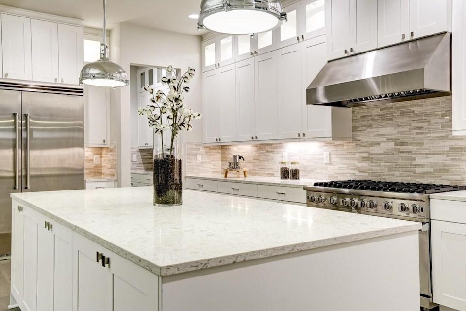 "If you installed pricey granite or marble counters only to find them cracked after just a few years of use, that can often be a <a href=""https://www.washingtonpost.com/lifestyle/home/how-to-repair-a-separating-granite-countertop/2017/03/03/33c7d6b4-fd2a-11e6-8ebe-6e0dbe4f2bca_story.html"" rel=""nofollow noopener"" target=""_blank"" data-ylk=""slk:sign of a shifting floor"" class=""link rapid-noclick-resp"">sign of a shifting floor</a> resulting from foundation issues, which may require a costly fix."