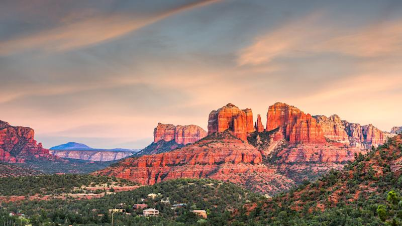 Red Rock State Park at dusk in Sedona Arizona