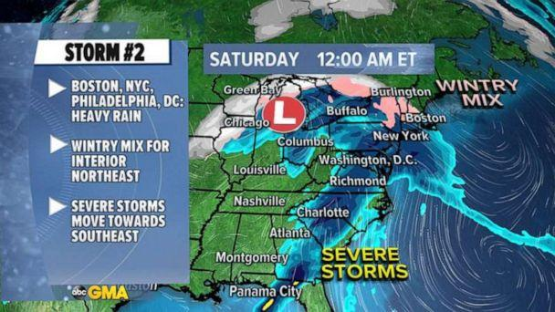 PHOTO: A multi-storm event will unfold over the remainder of the year. (ABC News)