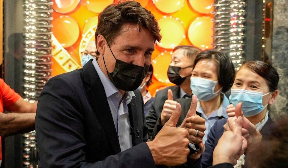 Canada's Liberal Prime Minister Justin Trudeau greets supporters during an election campaign stop in Richmond Hill, Ontario, on September 17. Photo: Reuters