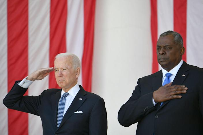 President Joe Biden and Defense Secretary Lloyd Austin honor the fallen and those now serving at Memorial Day ceremonies at Arlington National Cemetery.