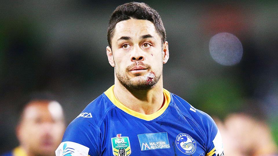 Jarryd Hayne (pictured) during his time in the NRL for the Parramatta Eels. (Getty Images)