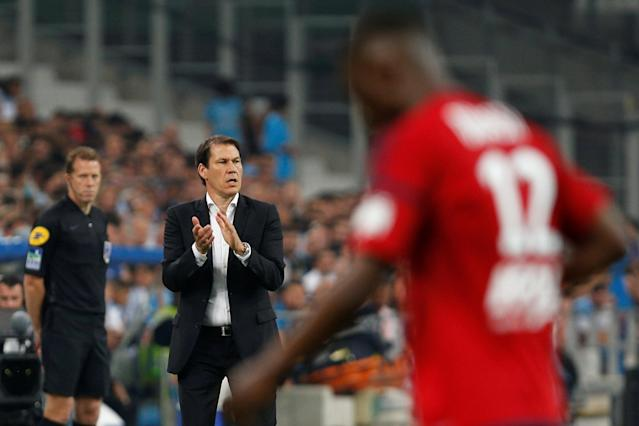 Soccer Football - Ligue 1 - Olympique de Marseille vs Amiens SC - Orange Velodrome, Marseille, France - May 19, 2018 Marseille coach Rudi Garcia during the match REUTERS/Philippe Laurenson