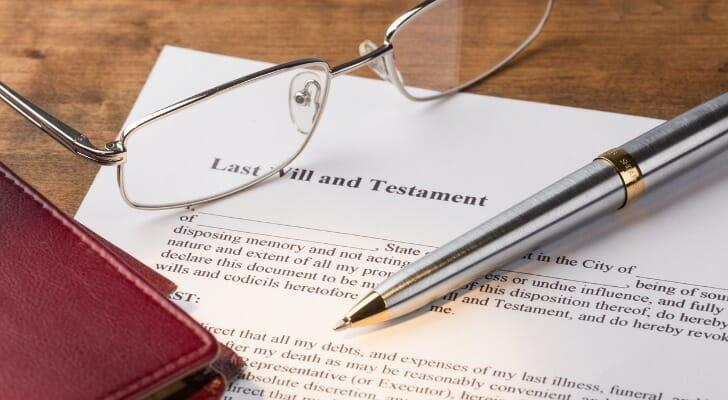 A form for last will and testament