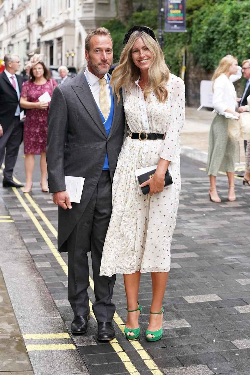 TV presenter Ben Fogle was also pictured at the ceremony with his wife Marina (PA). (PA Wire)