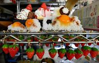 Japan's 'fake food' makes have diversified into creating accessories such as fruit earrings and fried egg rings