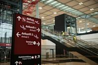 Staff were still putting the finishing touches to the Berlin airport a few days before opening