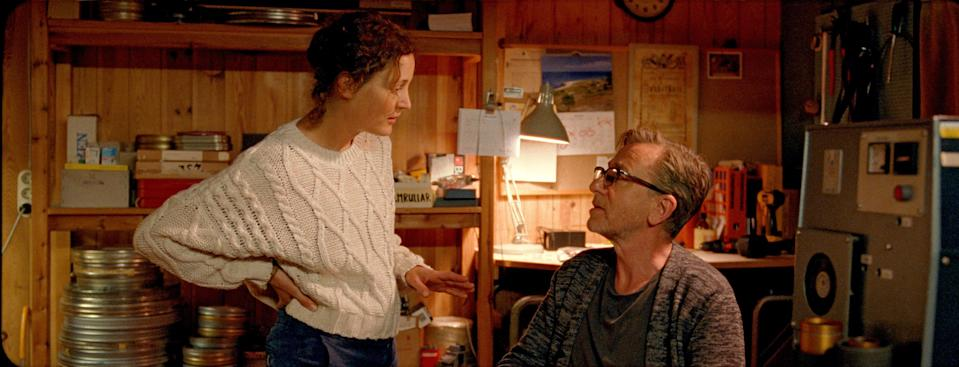 """Vicky Krieps and Tim Roth play a filmmaking couple who retreat to a mythical Baltic Sea island where Ingmar Bergman lived and shot his most celebrated movies to find inspiration in """"Bergman Island."""""""