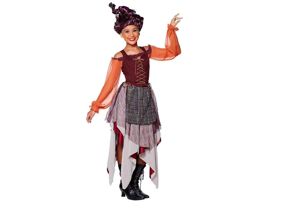 <p>This <span>Tween Mary Sanderson Costume</span> ($45) dress features a lace up corset top and a multilayered skirt - perfect for brewing potions.</p>