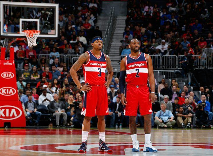 Bradley Beal and John Wall are determined to make the All-Star team together. (AP)