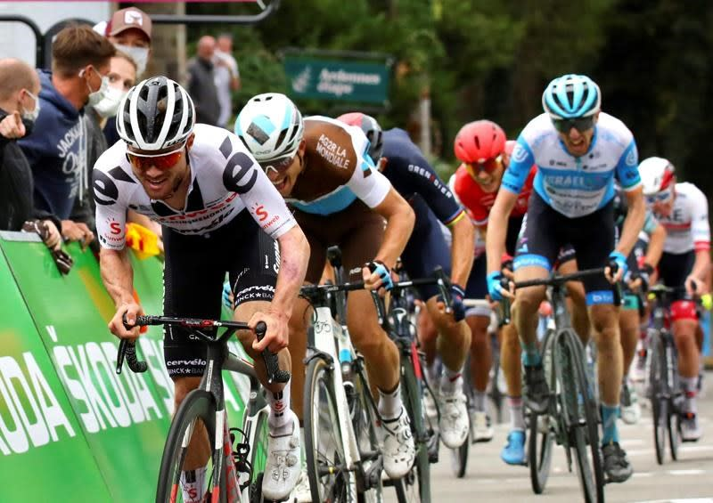 Canadian Michael Woods finishes third in Fleche Wallonne classic race