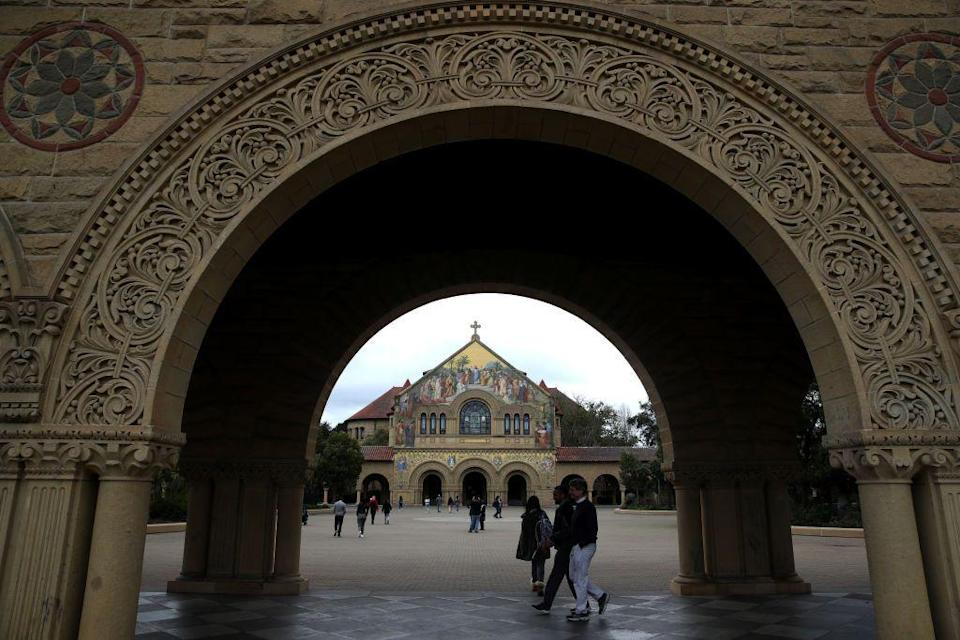 <p>Stanford's campus has a dramatic entrance and gorgeous Spanish red tile roofs that make it a school to see. The campus's Memorial Church has a striking mosaic facade, making it a landmark that shouldn't be missed.</p>