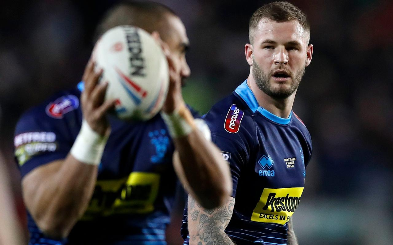 Wigan's Zak Hardaker (right) has been named in the Great Britain squad - PA