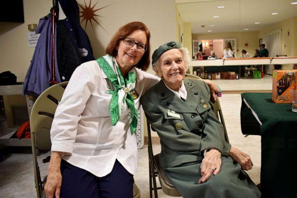 PHOTO: Ronnie Backenstoe pictured with current Girl Scout troop leader, Barbara Allen Perelli. (Courtesy Phoebe Ministries)