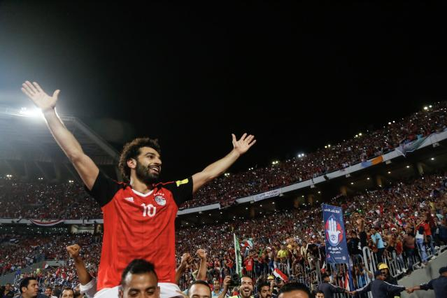 Mohamed Salah was the qualifying hero for Egypt. (Getty)