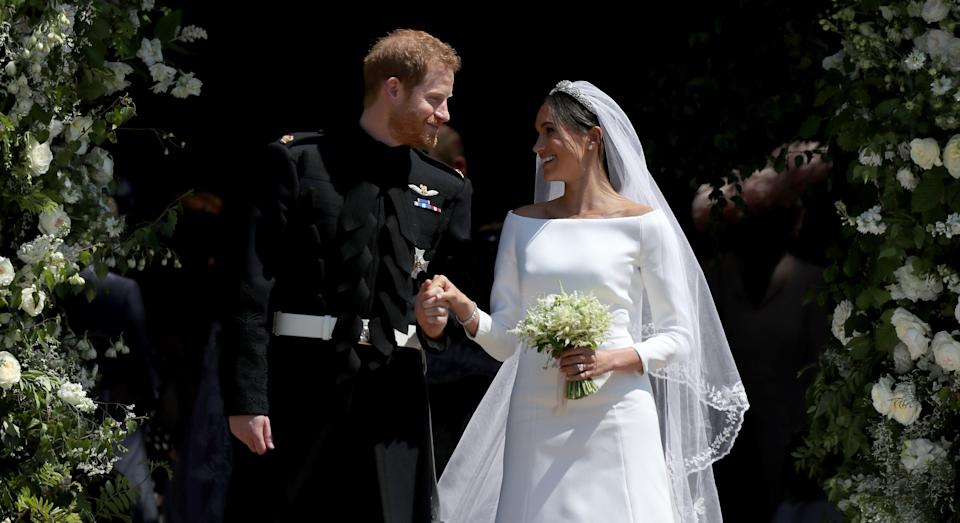 The Duke and Duchess of Sussex today mark two years since they walked down the aisle (Getty Images)