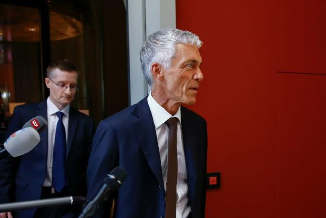 Swiss Attorney General Michael Lauber arrives before an interview by the Judicial Committee of the Swiss Parliamen, in Bern