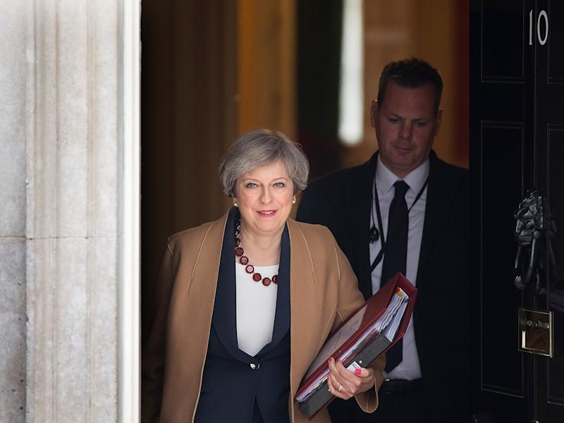 Theresa May appeared to signal the triple lock will be dropped: Getty Images